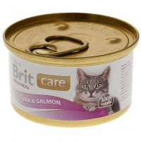 Brit Care Tuna & Salmon лосось и тунец, 80г